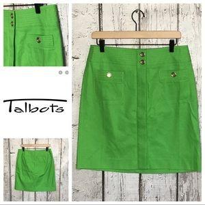 Talbots Apple green skirt